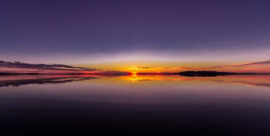 Sunset Flash, Great Salt Lake