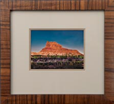 matted and framed giclée card